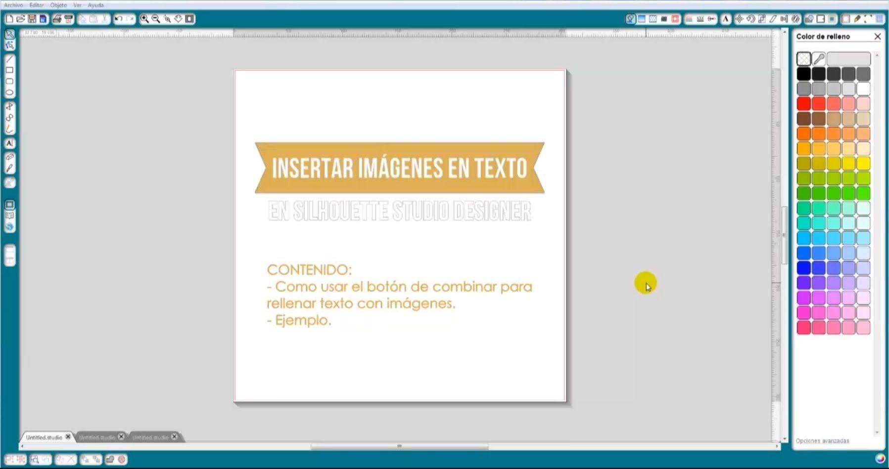 Tutorial Insertar Imágenes En Texto En Silhouette Studio Designer Español Silhouette Cameo Español Silueta De Camafeo Insertar Imagen Y Tutoriales