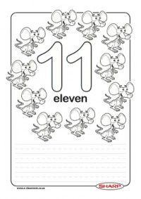 FREE Printable Number Worksheets 11 (Eleven) through 20