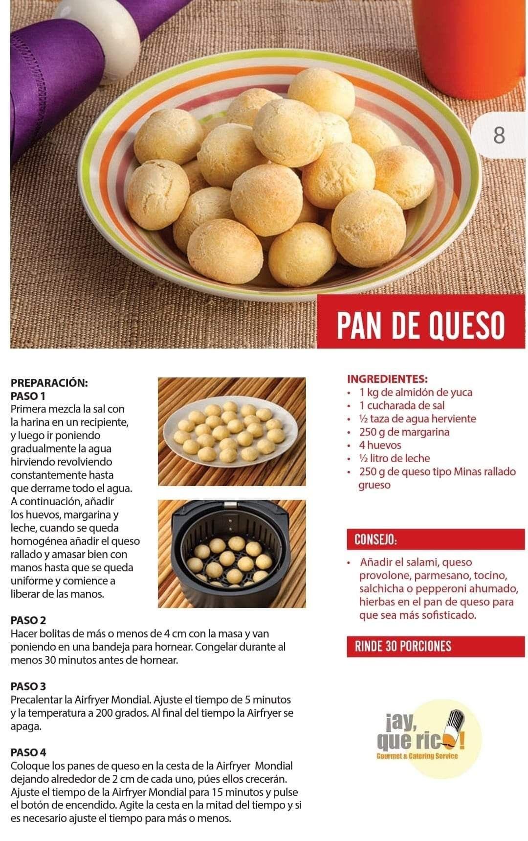 Pin De Kattya En Air Fryer Pan De Queso Ingredientes Harina