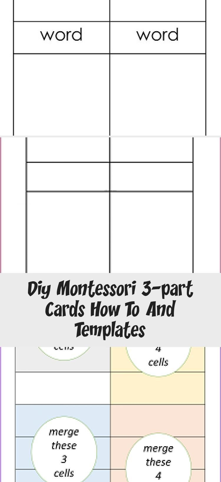 Diy Montessori 3 Part Cards How To And Templates Informational Blog Post And Video With Information About How To Make 3 Par Template Freebie Templates Cards