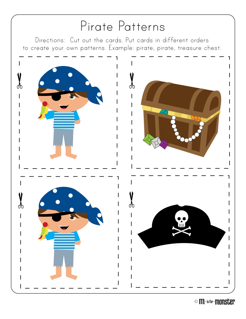 Pirate Week Printable #1 - M is for Monster !
