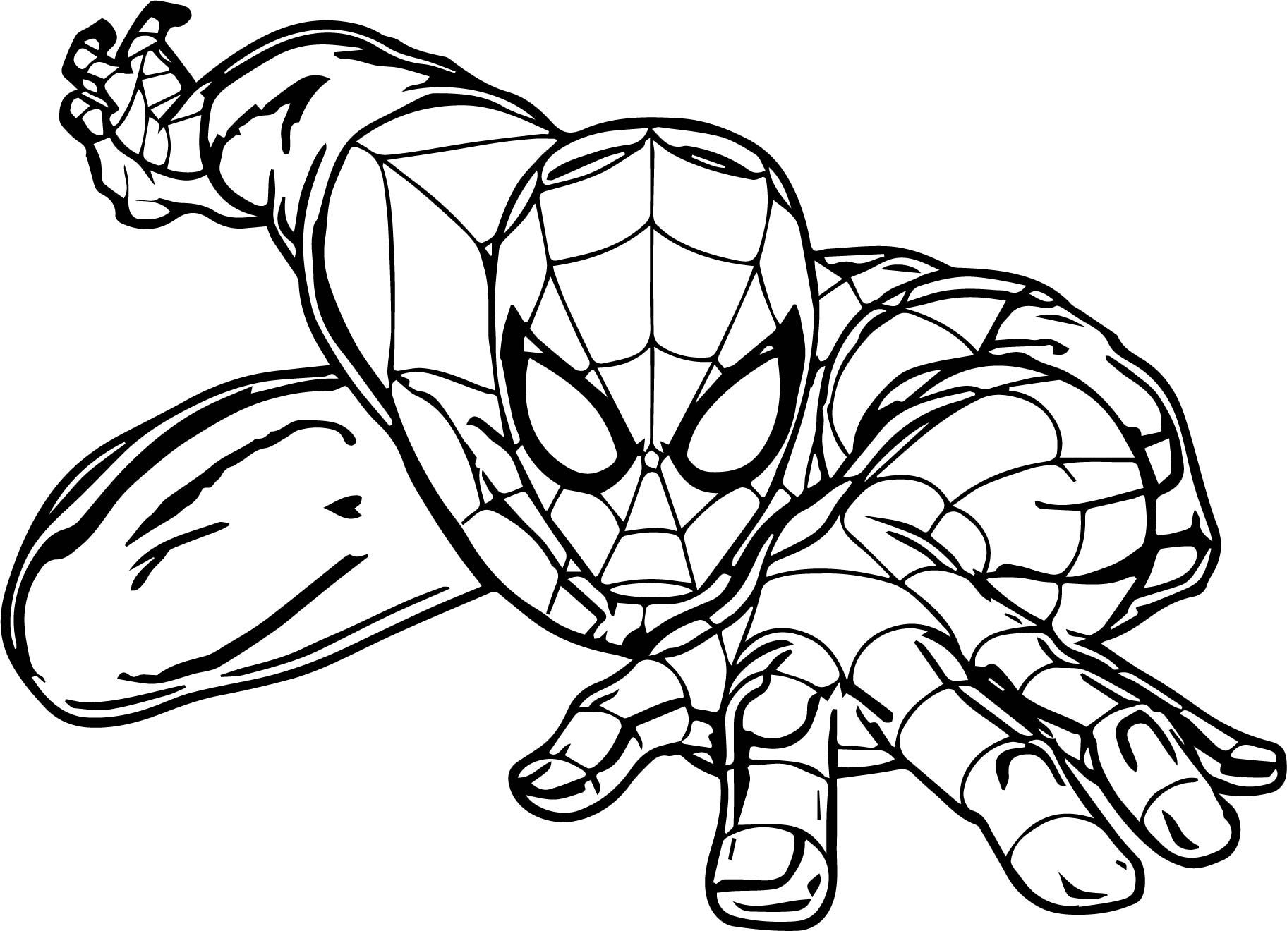- Cool Cartoon Spider Spider Man Coloring Page Spiderman Coloring