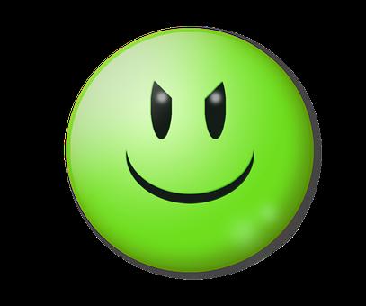 Emoticon Evil Smile Bad Happy Crazy