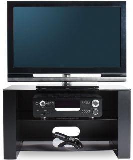 Alphason Ancora Black TV Unit - ANC800-3-GR