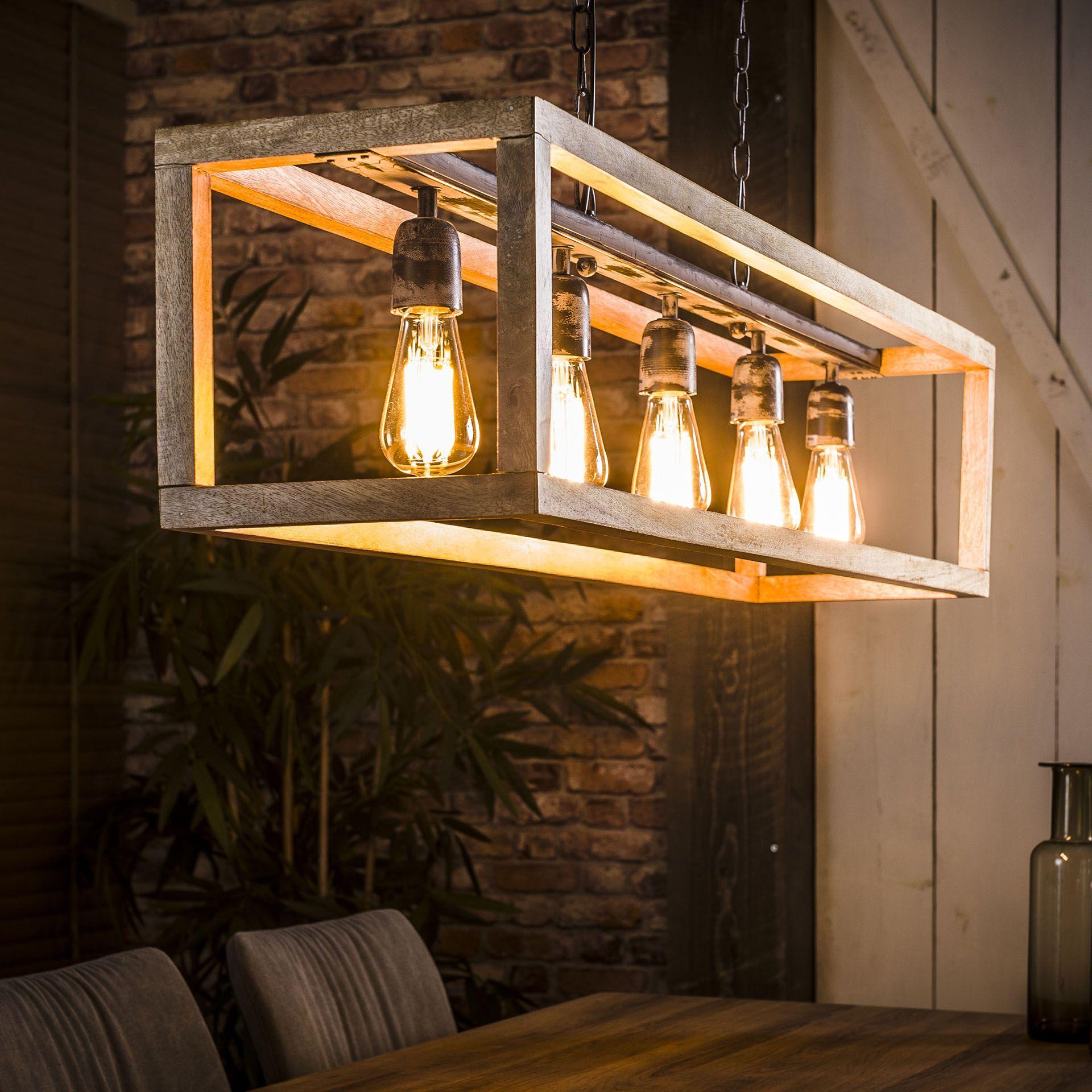 Pendelleuchte Lampe Deckenlampe Holz Beleuchtung