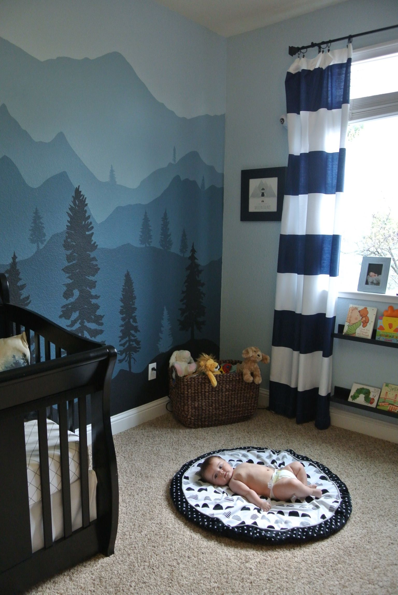 Mountain Woodland Nursery Baby Boy