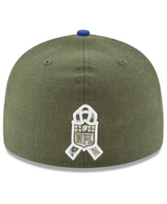 ee7180e01 New Era New York Giants Salute To Service Low Profile 59FIFTY Fitted Cap  2018 - Green 7 1 4