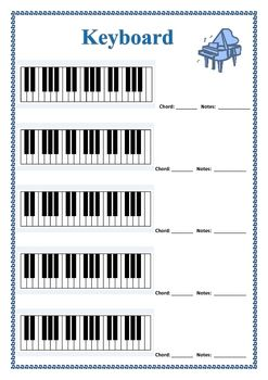 MUSIC Blank Diagrams For Keyboard Guitar And Bass FREE Download