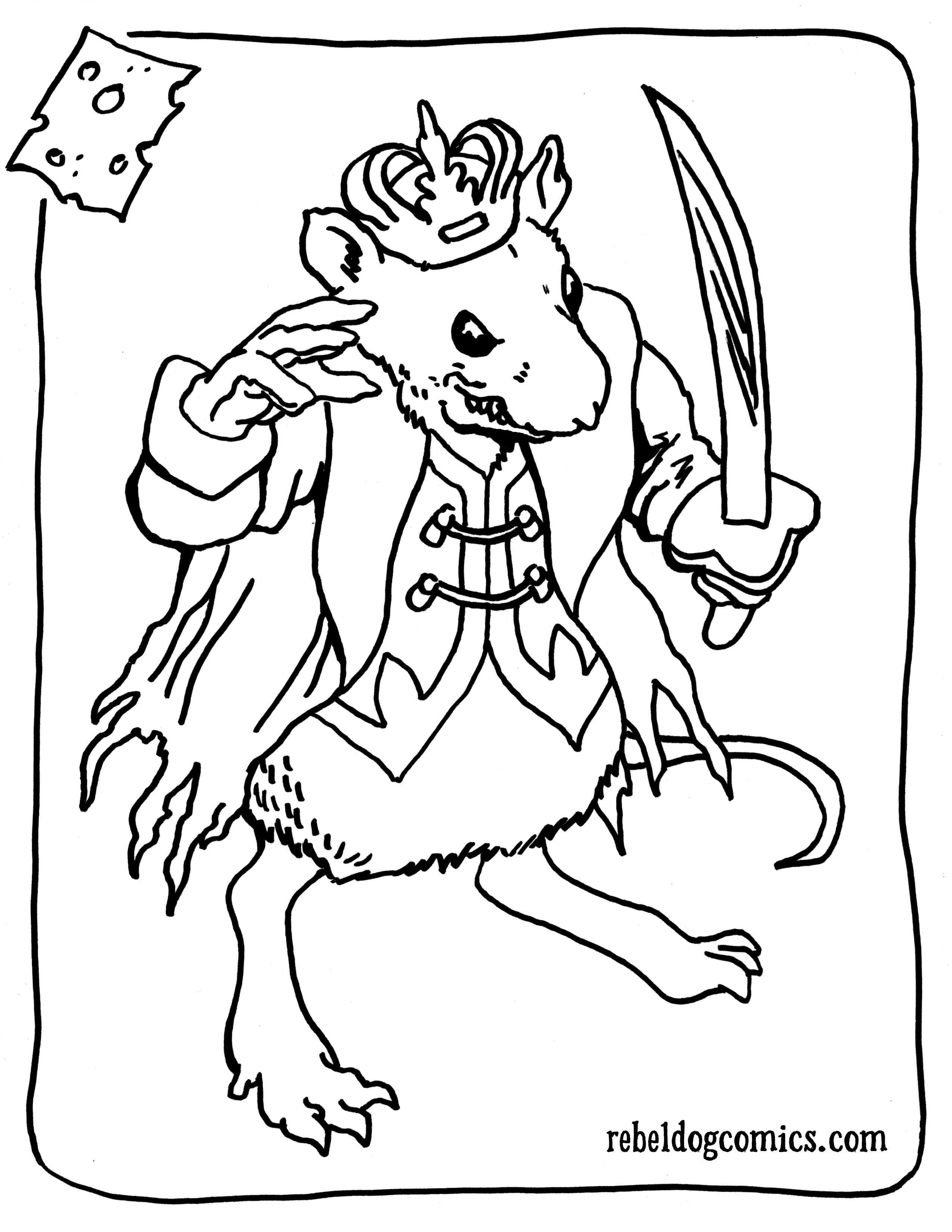 Mouse King Nutcracker Soldier Coloring Page Ballet Pinterest