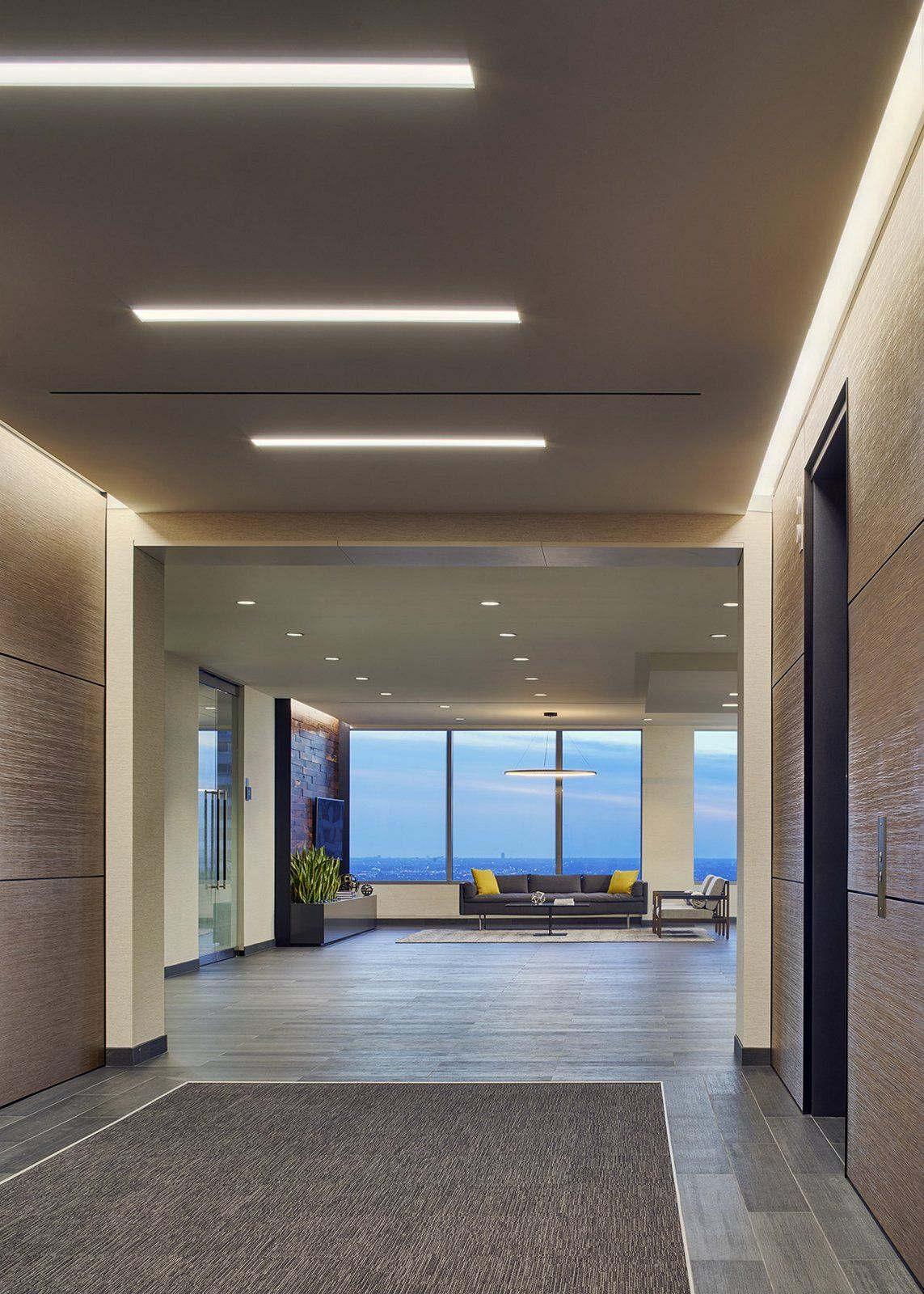 Office tour axis offices chicago elevator lobbies - Commercial interior design chicago ...