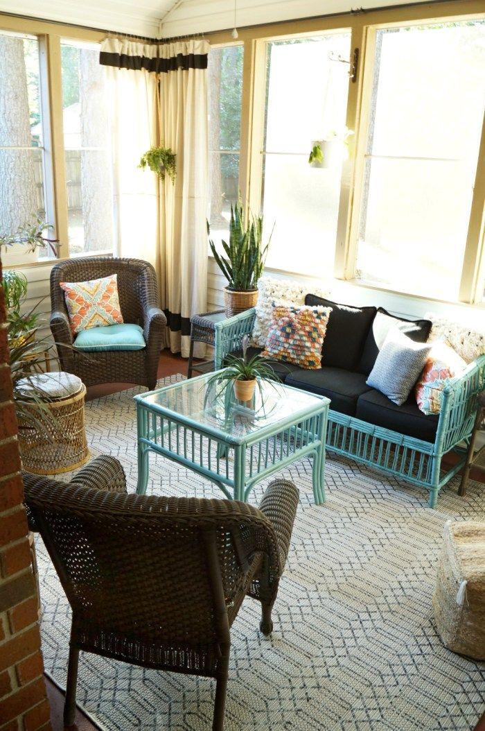 living room furniture budget%0A Bohemian Screen Porch Reveal