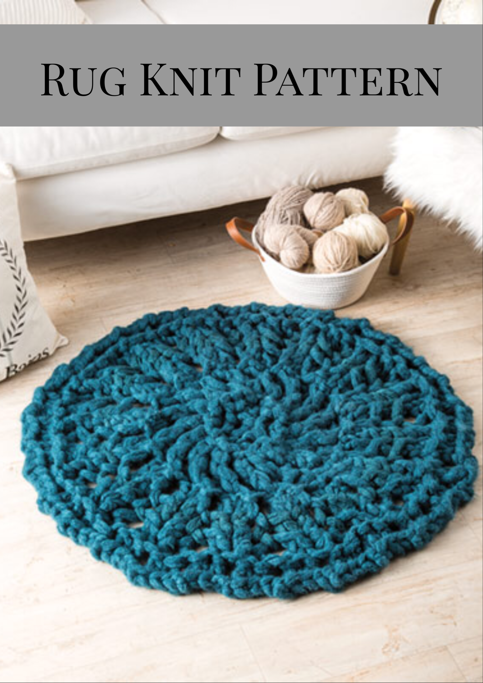 Thinking about knitting up this rug for the guest bedroom in a ...