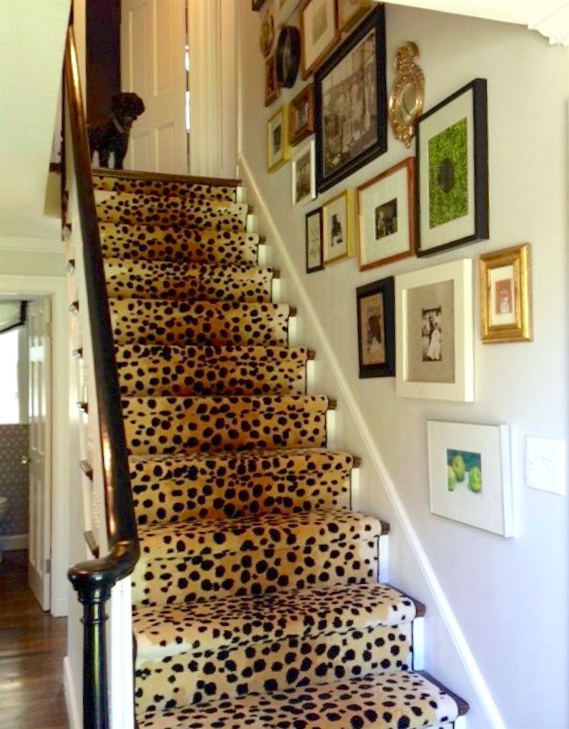 Stair Runners And The Huge Controversy Over Some Popular Fibers   Leopard Carpet On Stairs   Zebra Print   Giraffe Print   Milliken   Patterned   Antilocarpa