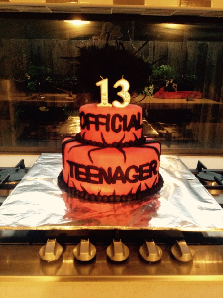 Official Teenager Cake Boy Birthday Cake 13 Birthday Cake