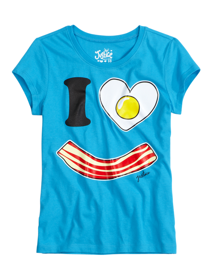 98fbee8c6 I Love Bacon Graphic Tee | Foods | Graphic Tees | Shop Justice | Kid ...