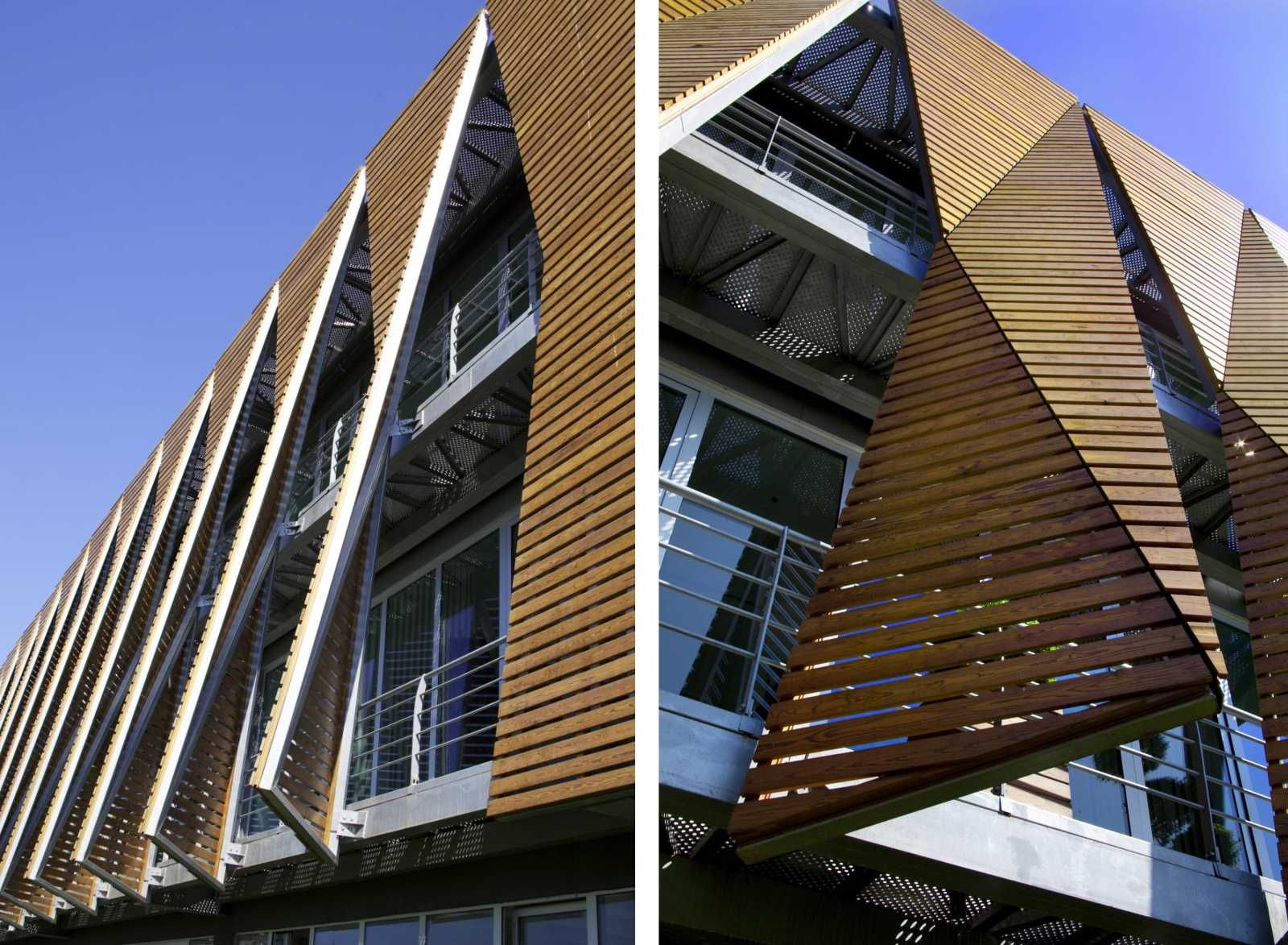 office facades. sur yapi head office tago architects wood screen facades
