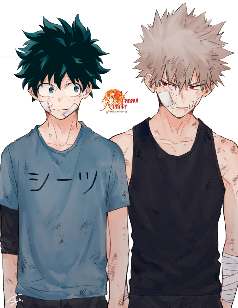 Katsuki Bakugo and Izuku Midoriya Anime Render by Nanavichan | MY