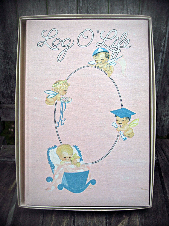 How to scrapbook baby book - Vintage Book Scrapbook Log O Life Unused Child S Scrapbook Child S Keepsake Book Baby Book Unused Retro Baby Book Scrapbook Baby Gift