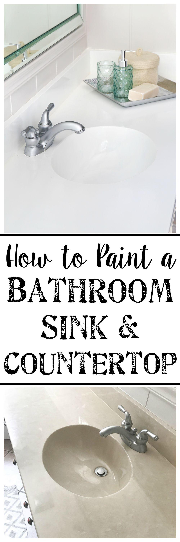 Diy Painted Bathroom Sink Countertop Bathroom Renovation Diy Painting Bathroom Bathroom Sink [ 3000 x 1000 Pixel ]