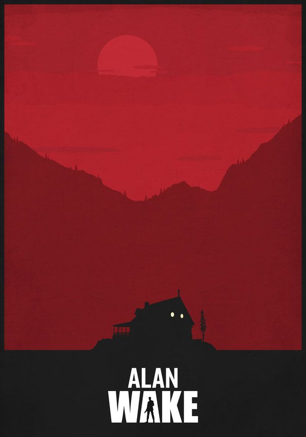 Alan Wake - Mark Kristensen | VG Graphic Design | Horror