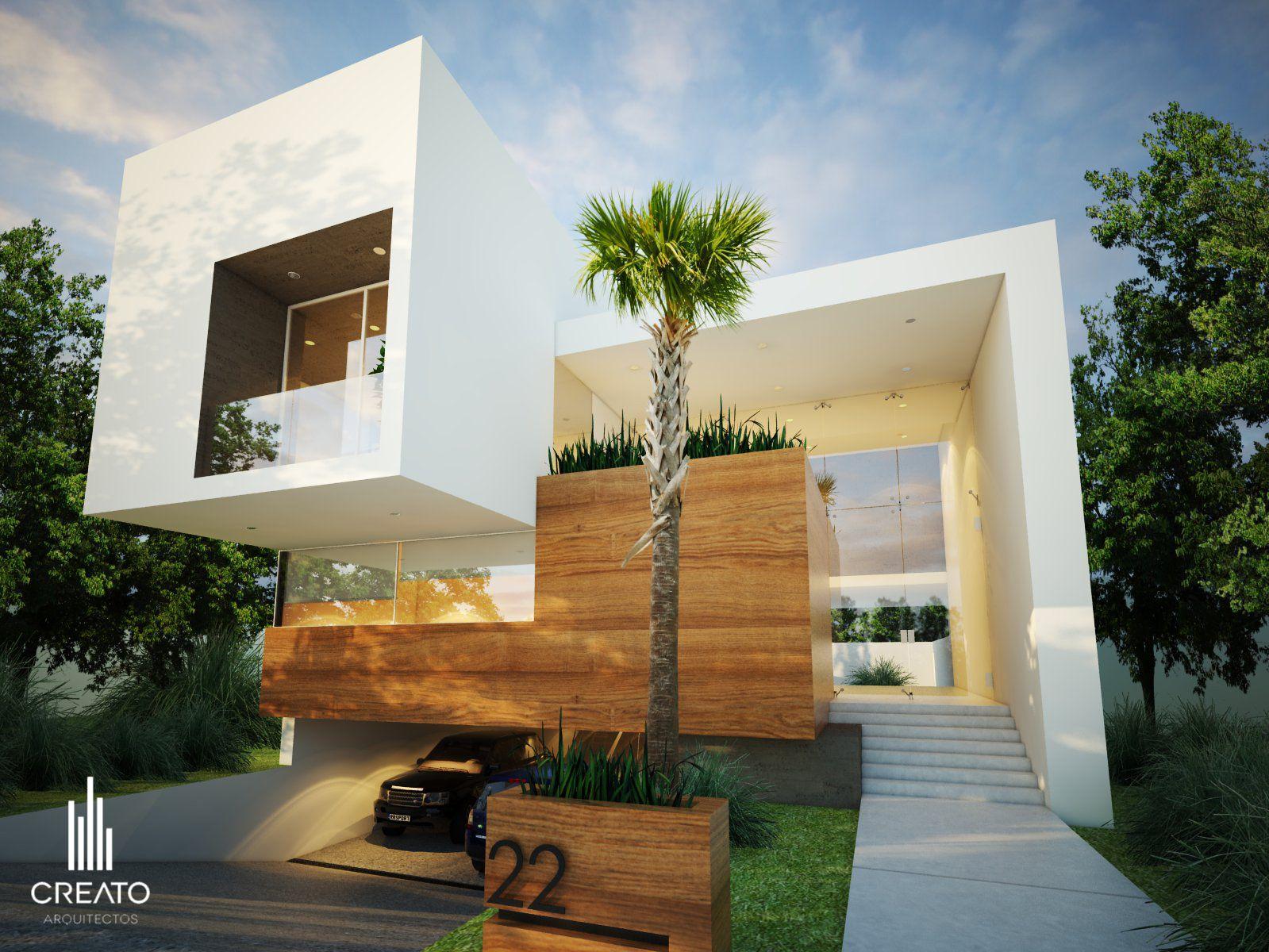 Maceta integrada a la fachada tipo de venta planta baja for Casa tipo minimalista