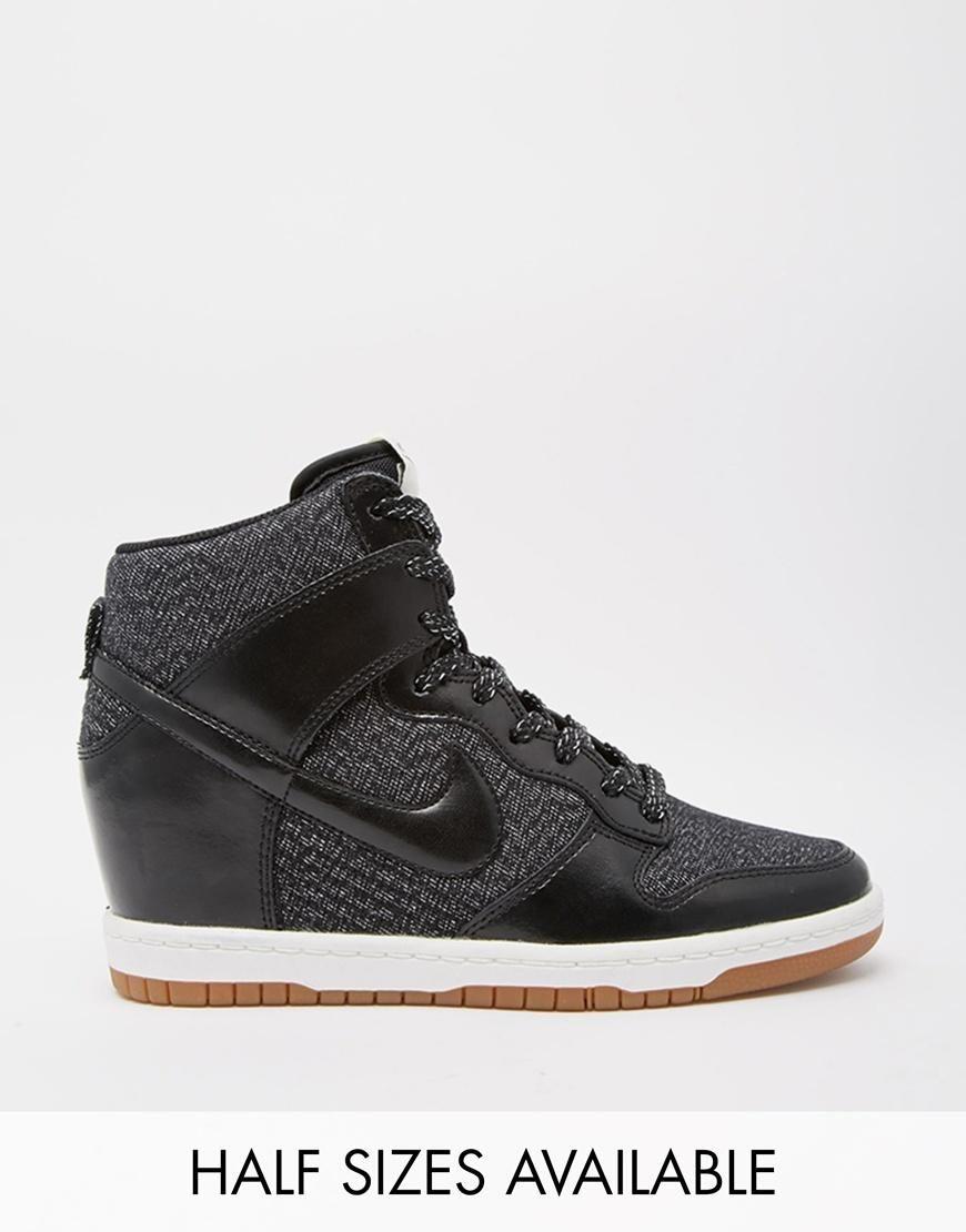 ... buy online 79cd9 1c023 Nike Nike Dunk Sky Hi Essential Wedge Trainers  at ASOS ... 85da79319286