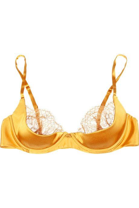 847f48c226d Mustard silk bra by Carine Gilson.  lingerie  yellow