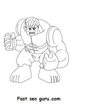Free Print out #Lego #Superheroes #Hulk Coloring pages for