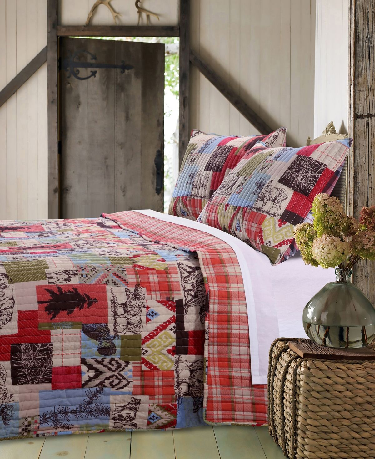 Greenland Home Fashions Rustic Lodge Quilt Set 3 Piece
