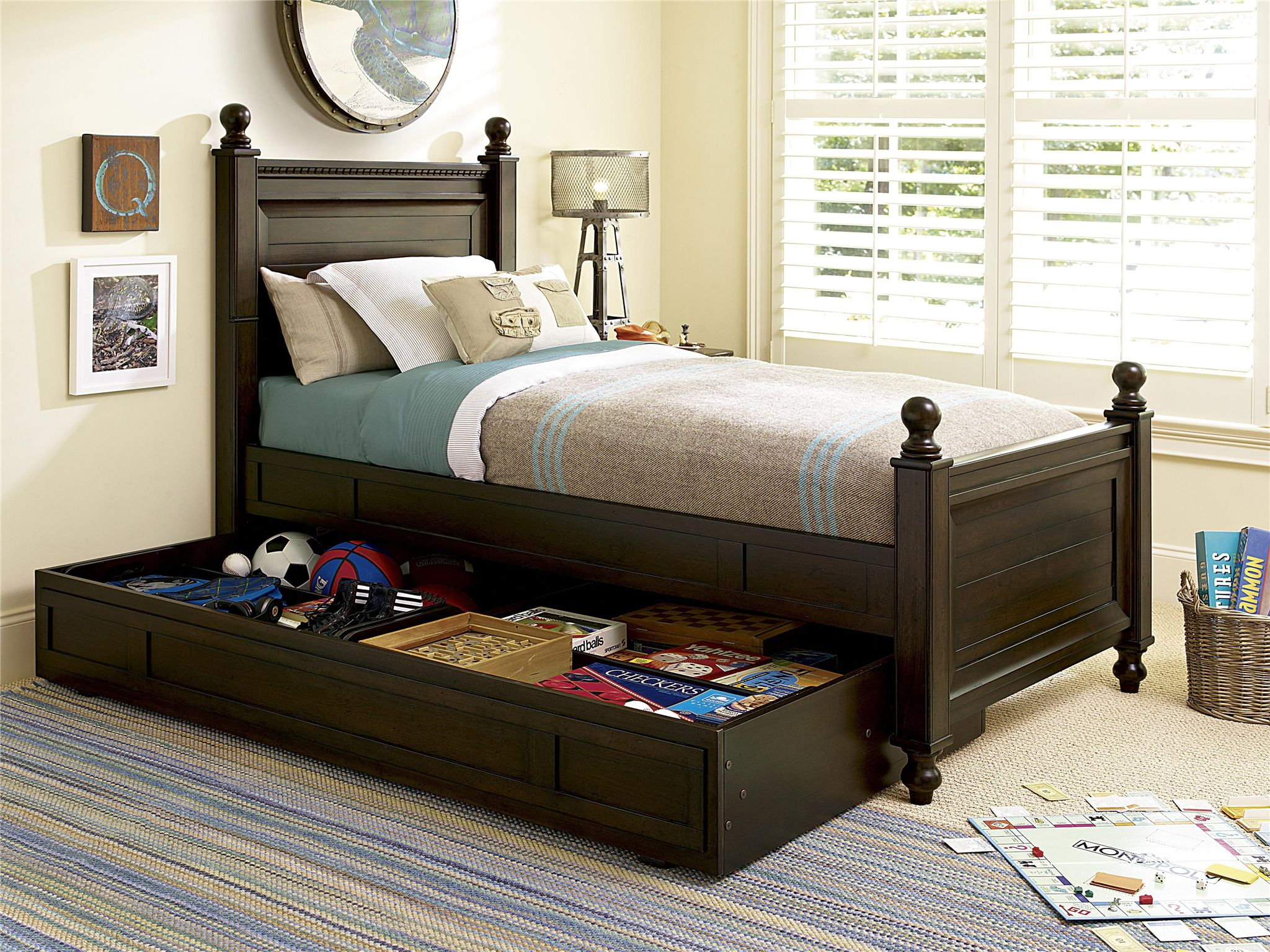 smartstuff furniture paula deen guys trundle fits under any bed