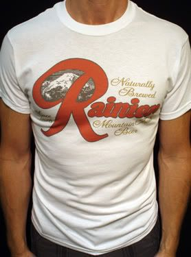 details about rainier beer t shirt vintage style seattle oly olympia bud light 01w awesomeness. Black Bedroom Furniture Sets. Home Design Ideas