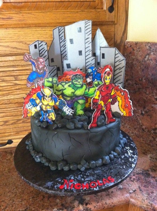 Awesome superhero Cake, very different!