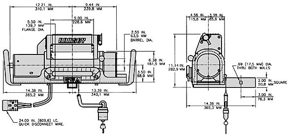 QM 8000 8,000 lbs. (3,620 kgs) rated line pull 12 volt ... Ramsey E Winch Wiring Diagram on
