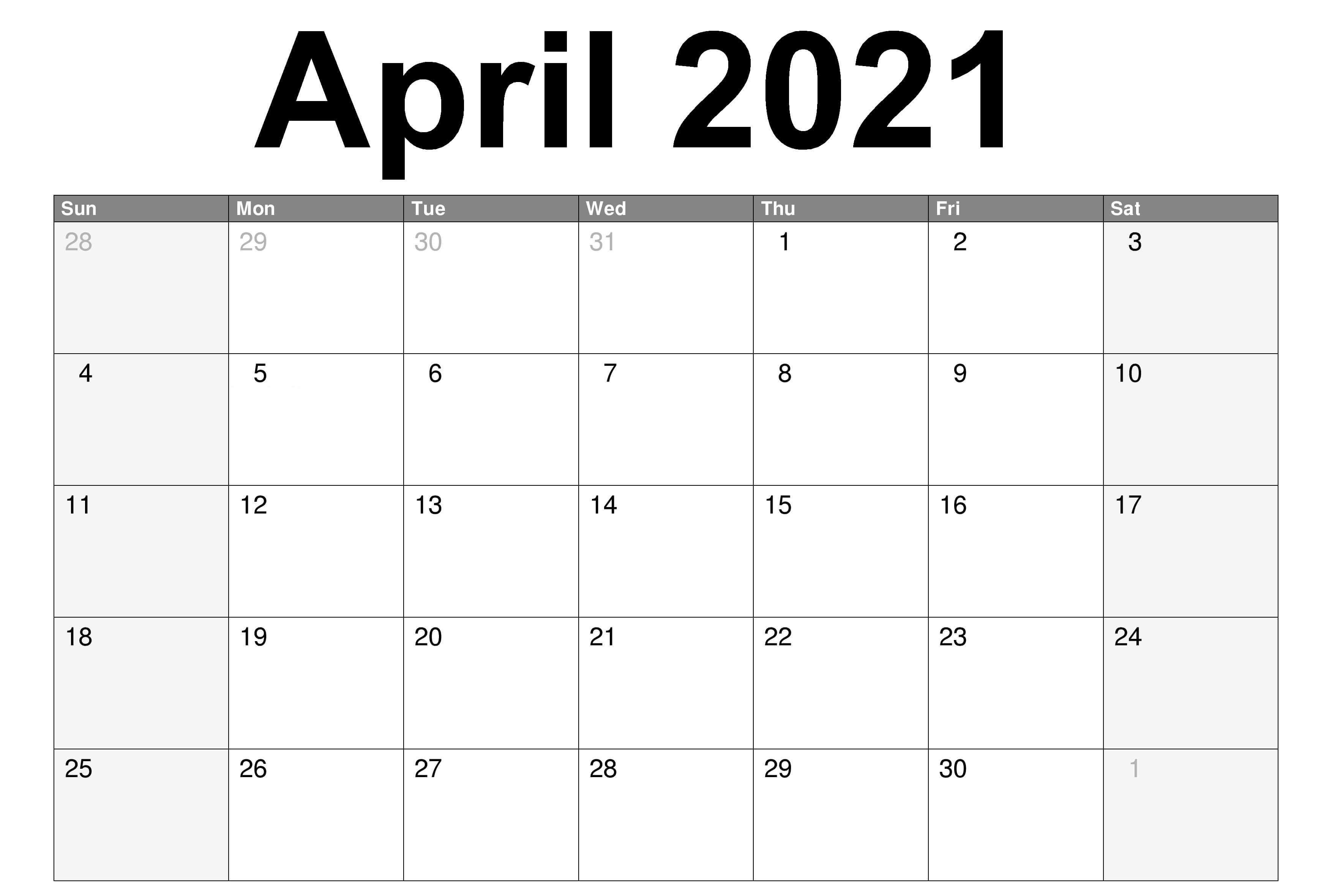 2021 April Printable Calendar Calendar March Printable Calendar July June Calendar Printable