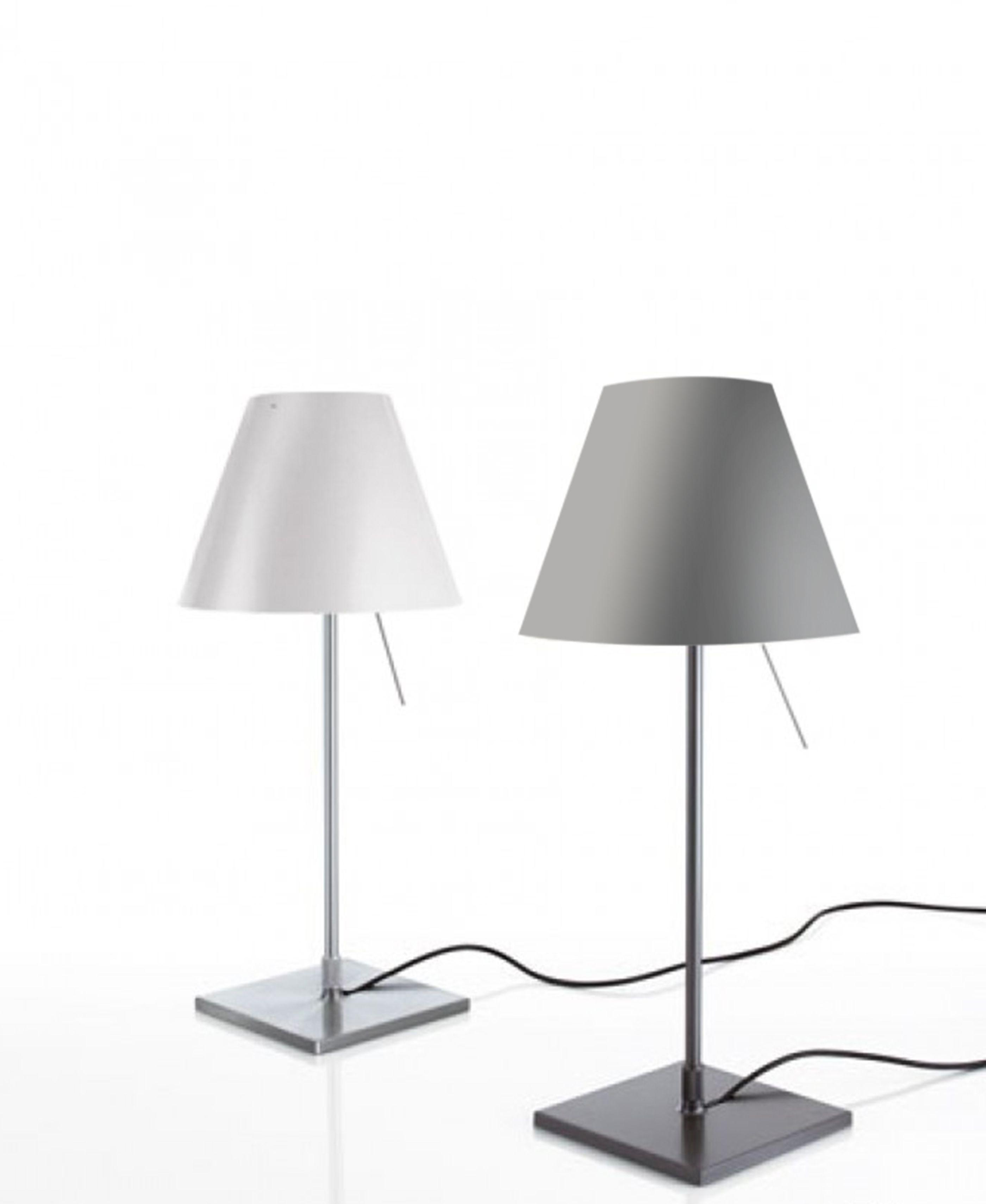 Costanzina Table Alu Mit Schalter Luceplan Prediger Lampe Schreibtischlampe Schirm