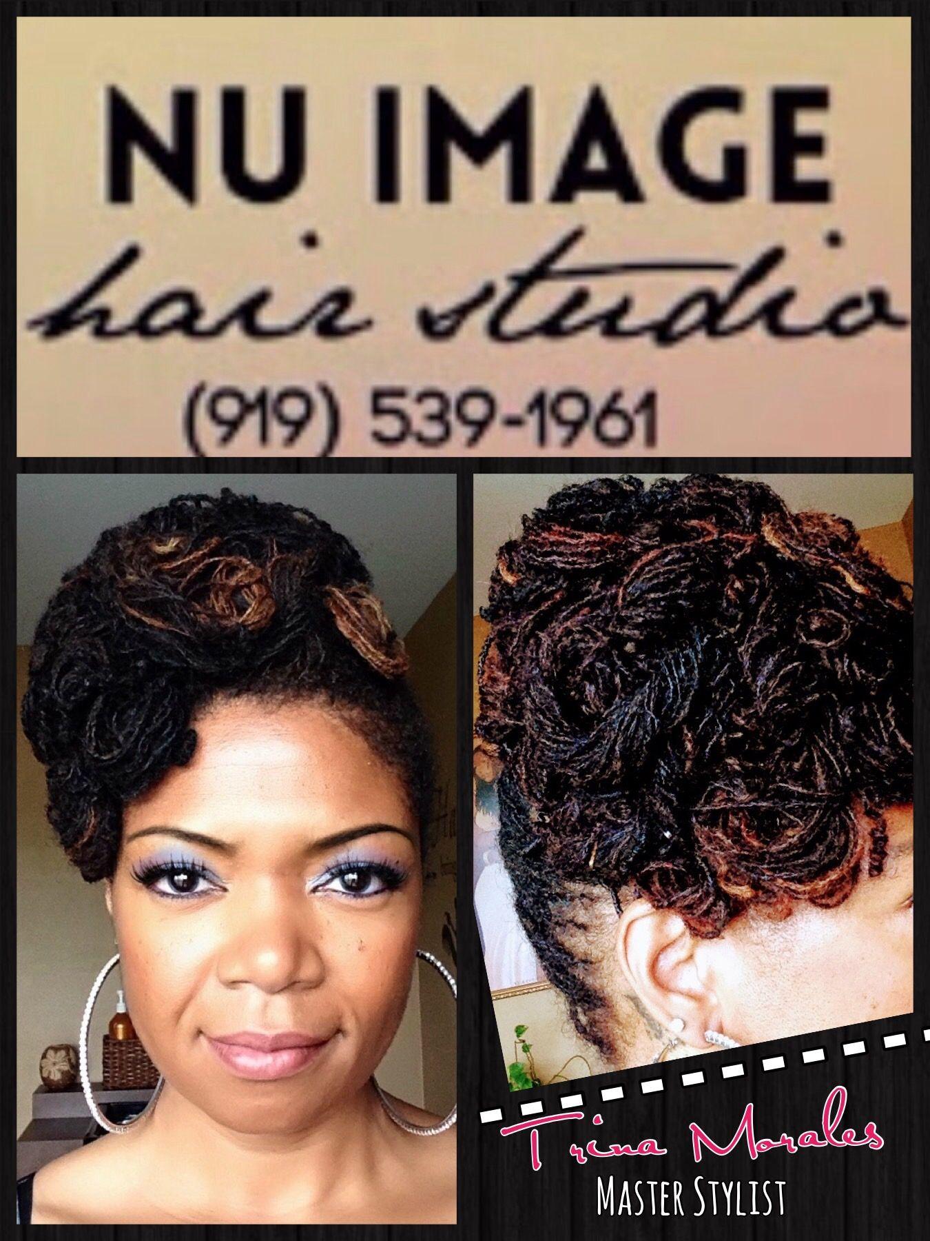 Sisterlocks Updo Hairstyle Nu Image Hair Studio Llc Columbia Sc