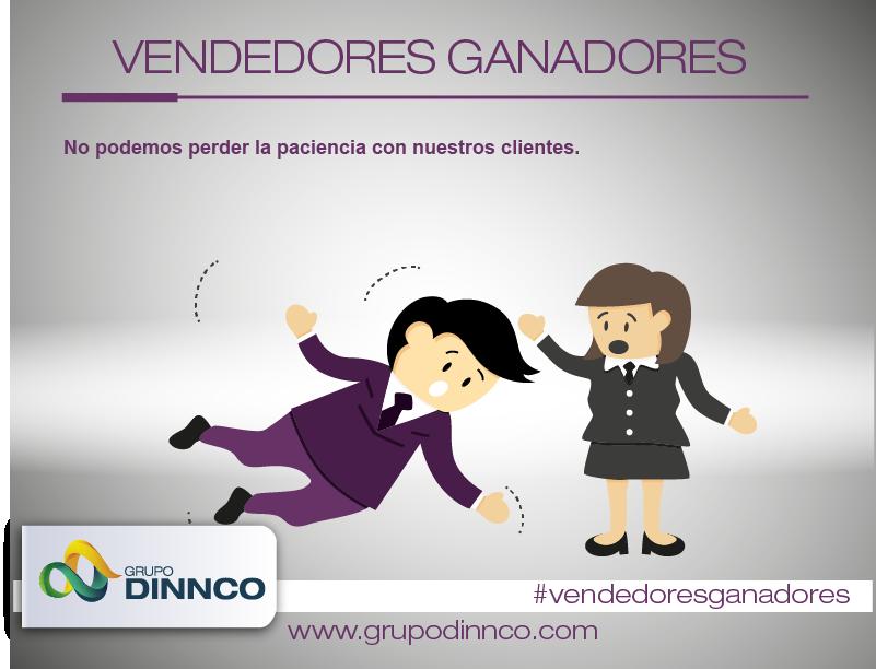 Vendedores Ganadores: No podemos perder la paciencia con nuestros clientes. #vendedoresganadores