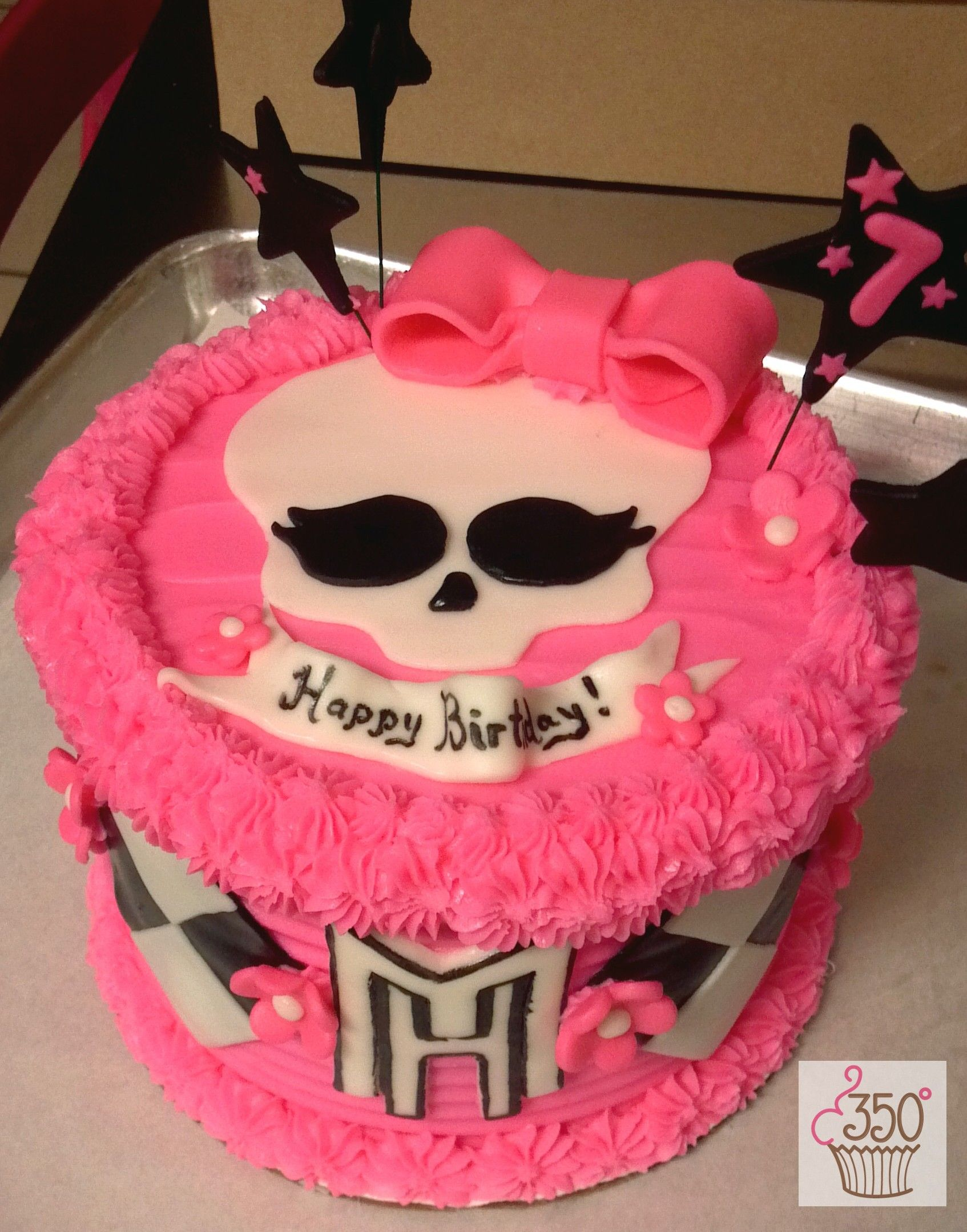 Monster High Cake made by 350 Classic Bakeshop in Mamaroneck NY