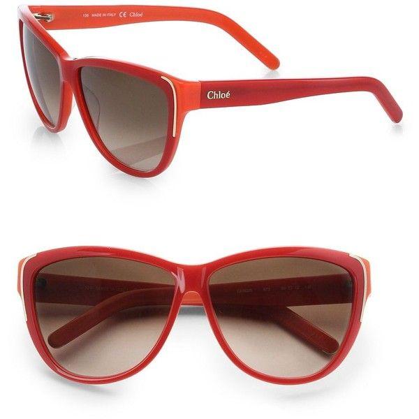526175df0e2b Chloé Capucine Cat s-Eye Sunglasses ( 275) ❤ liked on Polyvore ...