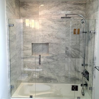 Another frameless glass shower/tub door! W606 Bath Pinterest - Bathroom Glass