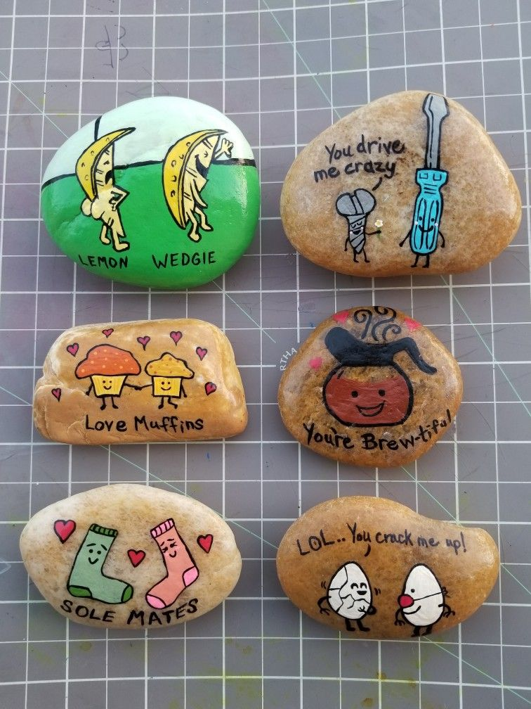 Funny Pun Painted Rocks Pebble Painting Stone Painting Rock Painting Painting People