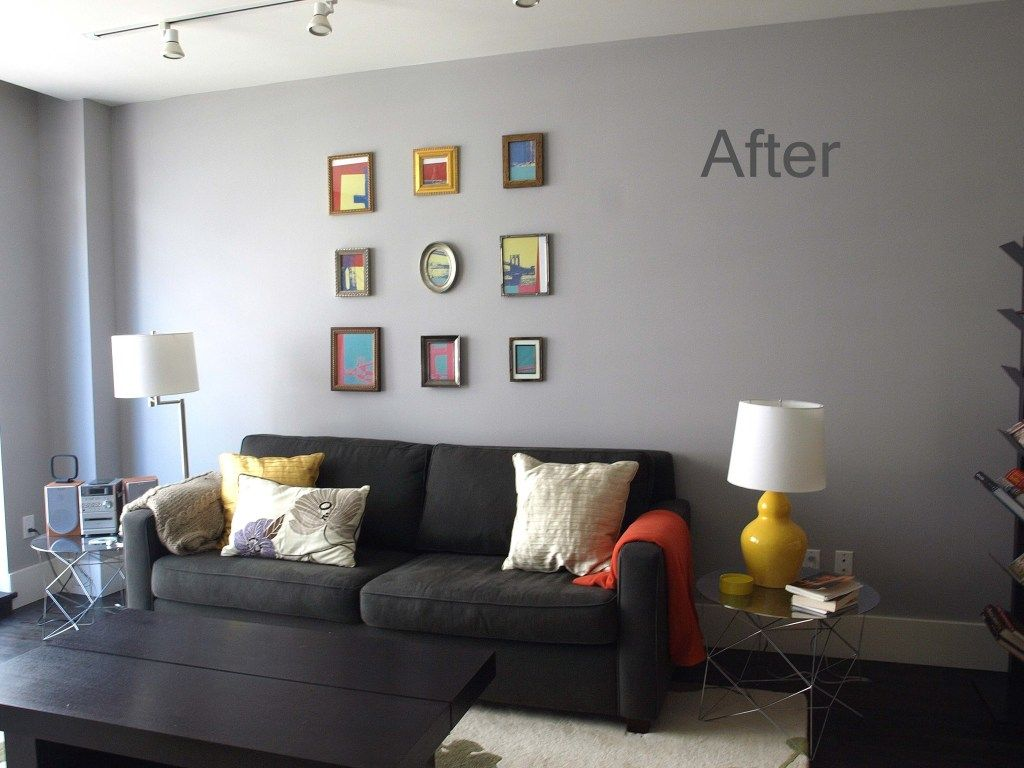 Korin S Updated Living Room Before And After Grey Walls Living Room Yellow Walls Living Room Living Room Paint
