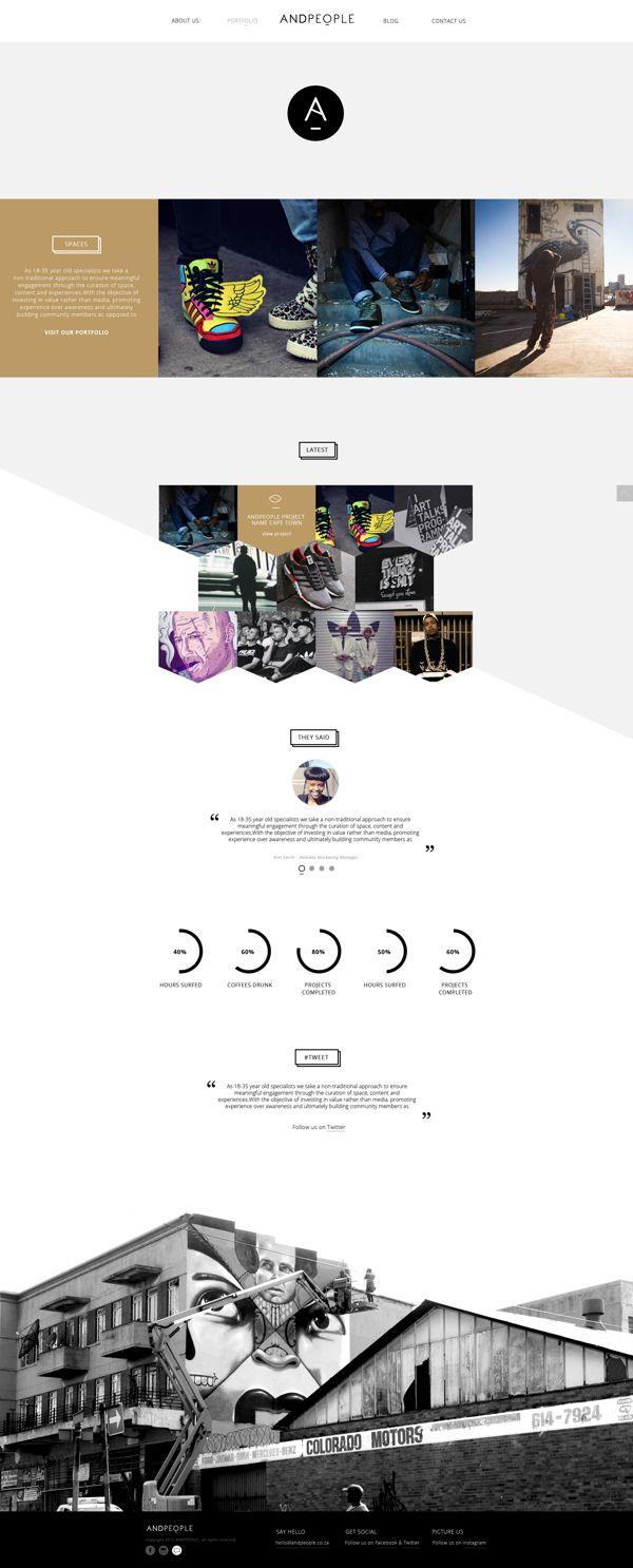 Andpeople On Web Design Served Web Design Inspiration Web Design Web Layout Design