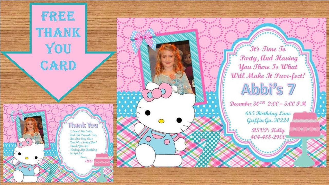 Hello Kitty Invitation, Hello Kitty Birthday, Hello Kitty Birthday Invitation, Hello Kitty Invite, Hello Kitty Party # Hello Kitty 00016 by kellylynn1973 on Etsy