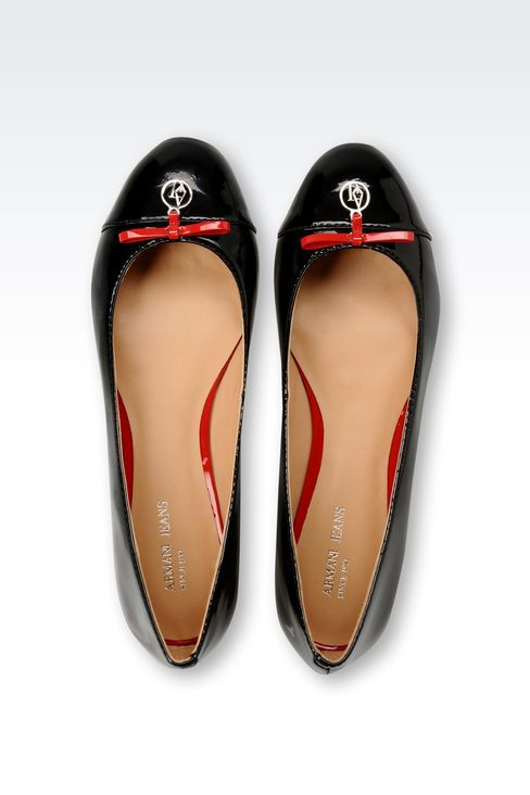 Armani Patent Leather Ballet Flats