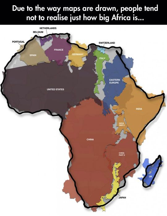 Never realized how big africa really is africa big and history never realized how big africa really is gumiabroncs Gallery