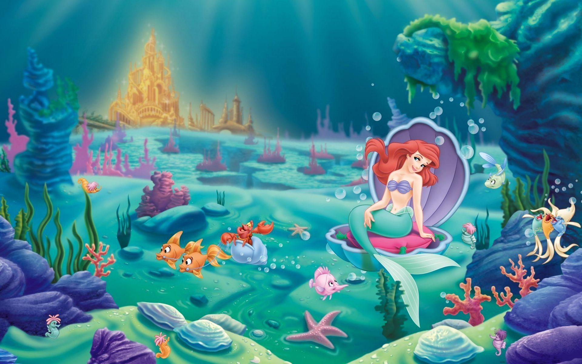The Little Mermaid Disney Princess Ariel And Castle Of