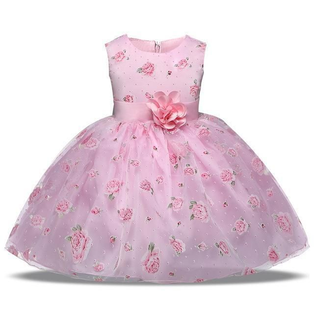 61a61ee2d0b9 Buy Girls Dress Pink Princess Lace Flower Girl Dress 4-10 Years at ...