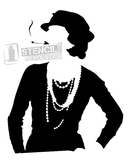 Coco Chanel Stencils Stencils Stencils Art Stencil Patterns