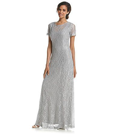 Alex Evenings® Glitter Lace Gown | Younkers